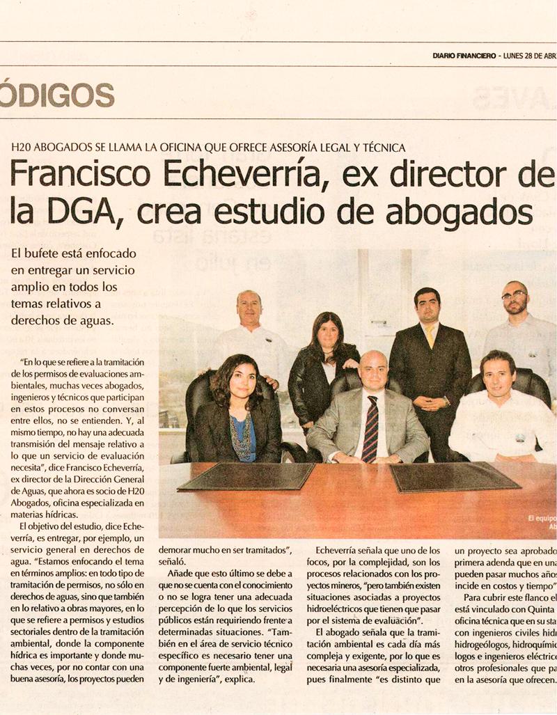 Francisco Echeverría ex director de DGA, crea estudio de abogados